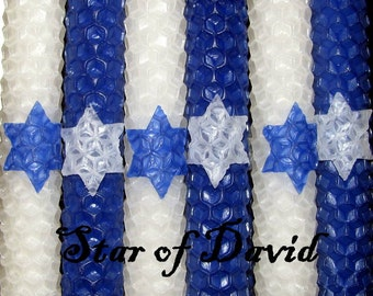 Shabbat/Tapers Sabbath Candles - Star of David