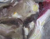 """Original painting by Juli Albers Schuster- """"Kate, close-up""""- statue of nude woman, oil on canvas board"""