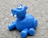 Blue Hippopotamus figurine