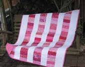 Baby Quilt - Baby Girl Quilt - Pretty in Pink - SALE