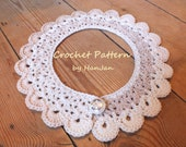 Instant Download PDF Crochet Pattern: Pretty Peter Pan Neck Collars in 5 sizes - US instructions
