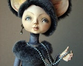 OOAK Art Doll Little Grey Mouse - VilmaDolls