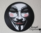 V for Vendetta Vinyl Record Painting