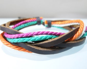 Leather bracelet 074