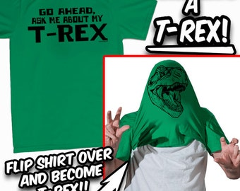 Ask Me About My T-Rex T-Shirt - ALL Sizes Great Gift Idea