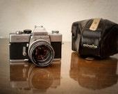 Vintage Minolta SRT-101 Film SLR with Rokkor PF 58mm f1.4