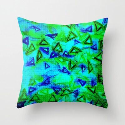 DECORATIVE THROW PILLOW Neon Cushion Cover 16x16 18x18 20x20