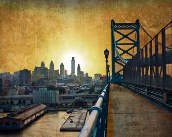 Philadelphia Skyline Print - 8.5'' x 11''