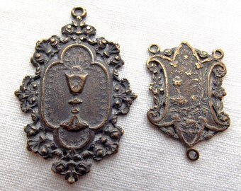Bronze Blessed Sacrament Chaplet Set, Holy Eucharist