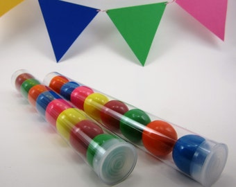 "5 Clear Plastic Candy Tubes With Plastic Cap - 8"" Long - Wedding Favor, Party Favor, Birthdays, Sweet 16, Gumball Tube"