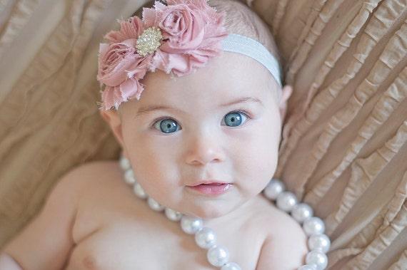 diademas de bebé niña diadema chicas diadema Vintage rosa.
