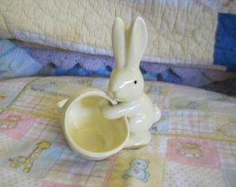 Sweet Little Yellow Rabbit with Basket. :)