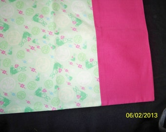 Bunnies and Flowers Pillowcase