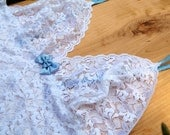 Something Blue Bridal Camisole and Skirted Thong Lingerie set in Custom and PLus Sizes