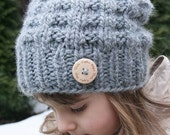 Taralyn Slouchy Hat - Knitting pattern - Toddler, Child and Adult sizes - pdf format / eBook