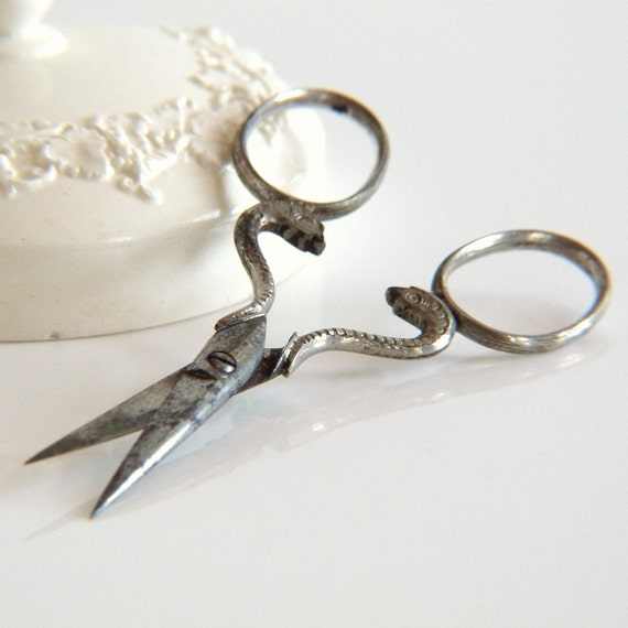 Vintage Snake Sewing Scissors By TheOpenSesame On Etsy