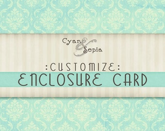 Customize - Add an Enclosure Card