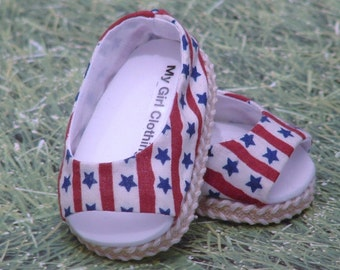 Stars and Stripes Open Toe Summer Shoe