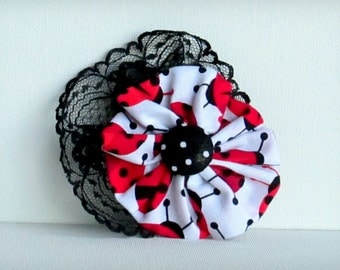 Scattered Ladybugs - Hair Fascinator - Adornment