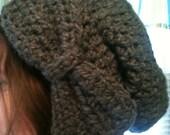Slouchy Bow Beanie Crochet PATTERN