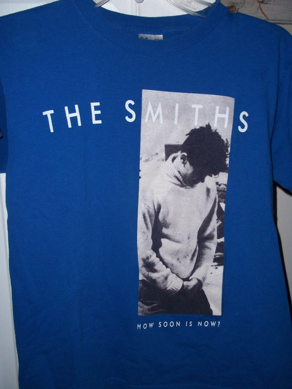 items similar to the smiths how soon is now blue graphic. Black Bedroom Furniture Sets. Home Design Ideas