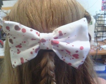 Bloody Hair Bow Barrette
