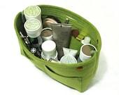 Makeup Organizers Felt Toiletry Storage Container Cosmetic Bag Organizer Storage Bag Organizing Desk Storage Hand Bag-Green