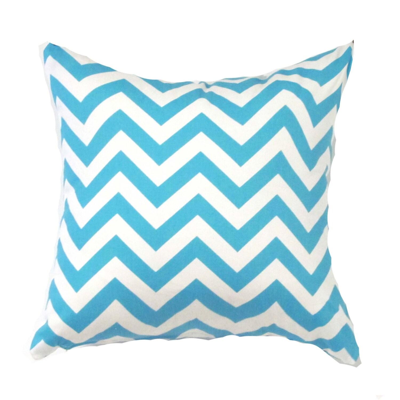 blue pillow cover blue zigzag pillow blue chevron - 🔎zoom