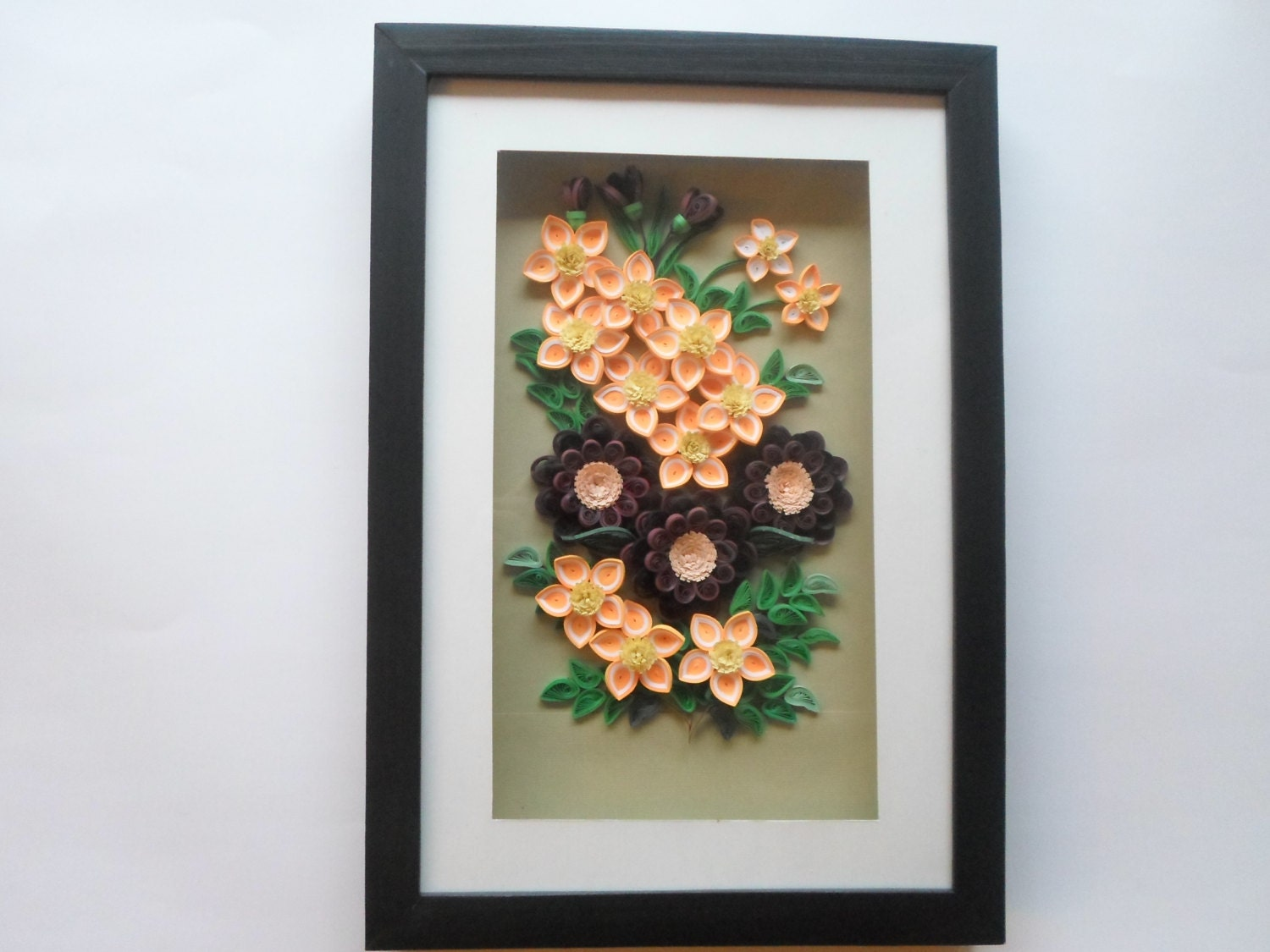 Items Similar To Flowers Wall Decor 3d Paper Flowers Wall