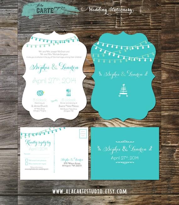 Tiffany Blue Wedding Invitations Kits: Items Similar To Die Cut Ornate Tiffany Blue Teal Wedding