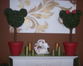 Mickey & Minnie Mouse Large Topiary Tree Set of Two