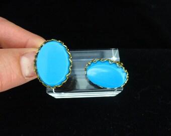 Vintage Blue Plastic Earrings