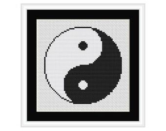 Yin Yang Cross Stitch Chart