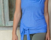 Low Back Wrap - Yoga Top with Halter Neck - 'Mudra Wrap' (Size S/M)