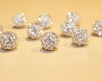 10pc Rhinestone Loose Beads-Crystal Beads-basketball wives-10mm