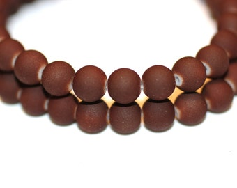 80pcs Loose Brown Beads-Bracelet Beads-Necklace Beads-8mm