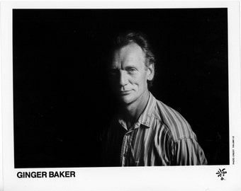Ginger Baker Publicity Photo   8 by 10 Inches