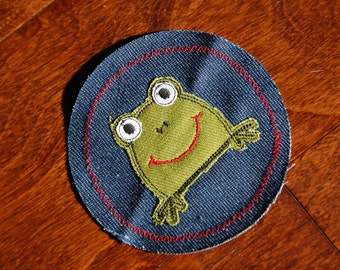 Frog Applique Iron On Knee Patch For Children