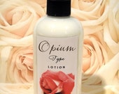 Opium Type Lotion - Vegan Lotion with Organic Ingredients - Body Butter in a Pump Bottle - Exotic Floral Lotion - 8oz