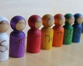Waldorf Days of the Week  Children - Natural Wooden Toy- Set of 7