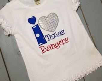 Custom I Heart Texas Rangers Boutique Shirt