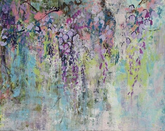 "Modern Art Print-- Archival Print of Original Painting-- ""Sweet Wisteria"""