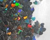 Solvent Resistant Glitter Holographic Black Heart Glitter 1/2 Ounce 1/8 Hearts Glitter Frankening Nail Polish Supply