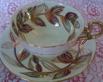 Vintage Royal Grafton Cup and Saucer. Heavy Gilt