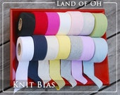 Cotton Jersey Knit Bias Tape in 14 Colors 3.5-4 cm Wide (1.4-1.6 inch) 26341 - 50