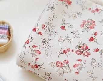 "Oxford Cotton Sally Flower - Red - per Yard (44 x 36"") 33654"