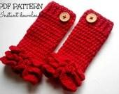 Crochet pattern INSTANT DOWNLOAD PDF, crochet leg warmer pattern, Ruffles leg warmer - newborn to 2 years, Pattern No. 23