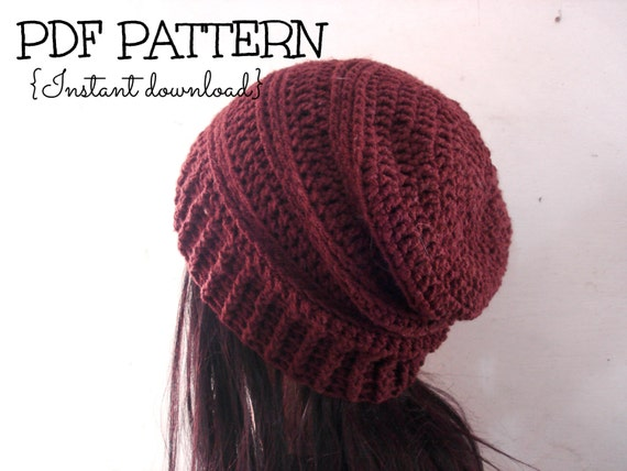 Slouchy Beanie Crochet Hats Patterns Crochet Pattern Slouchy Hat