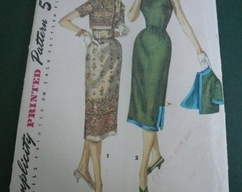 Vintage Simplicity Pattern 1522  Misses One Piece Dress and Jacket  Size 16