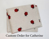 Linen kitchen tea / dish towel - Ladybird Design